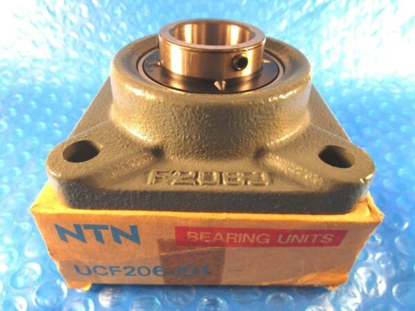 NTN UCF 206 JD1, UCF206 JD1, UCF Series 4-Bolt Flange Bearing, Japan
