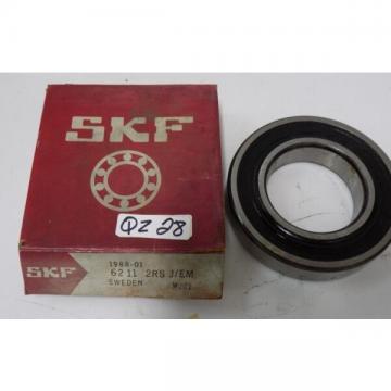 SKF SINGLE ROW RADIAL BALL BEARING 6211 2RS J/EM NIB