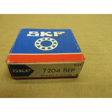 NIB SKF 7204 BEP ANGULAR CONTACT BEARING 7204BEP NEW